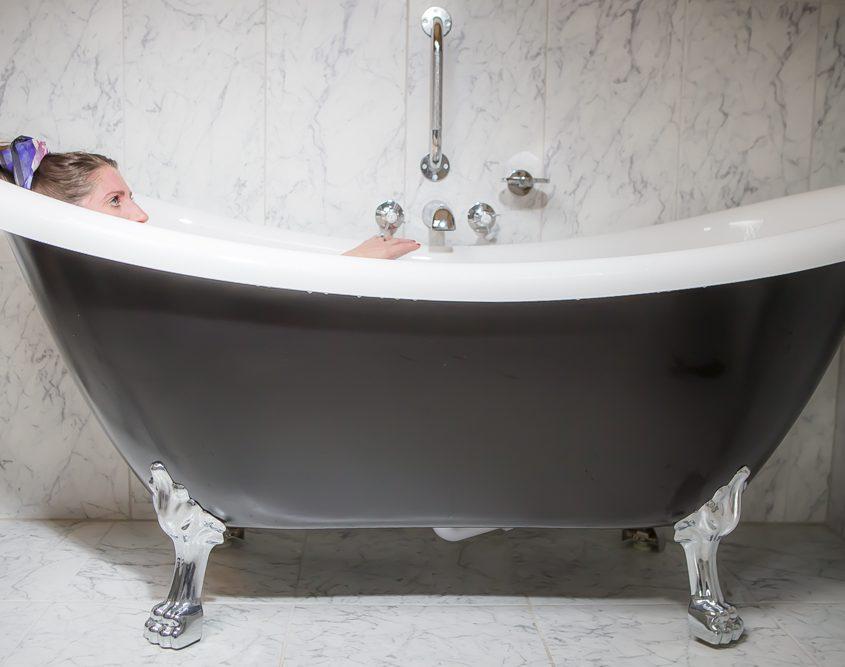 Coul House Hotel Bath in Four Poster Master Bedroom, Scottish Highland Destination.