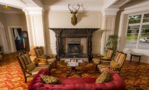 Country House Hotels Scotland, Coul House Hotel reception area, Scottish Highlands.