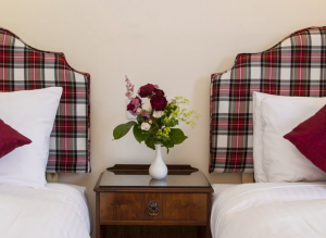 Coul Bedrooms. Twin room at the Coul House Hotel, Contin near Inverness