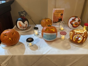 Coul House Team Pumpkin Carving Competition at Coul House Hotel, Contin, North of Inverness on the NC500.